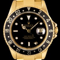 Rolex Yellow gold Automatic Black No numerals 40mm pre-owned GMT-Master