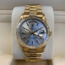 Rolex Day-Date 36 Yellow gold 36mm Silver No numerals