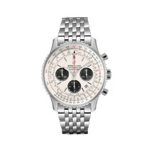 Breitling Steel Automatic Silver No numerals 43mm new Navitimer 1 B01 Chronograph 43