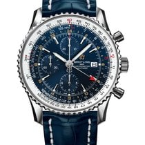 Breitling Navitimer GMT Staal 46mm Blauw