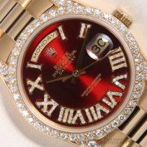 Rolex Day-Date 36 Gelbgold 36mm Rot Römisch