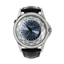 Patek Philippe World Time Platinum 39.5mm Blue No numerals United States of America, Connecticut, Greenwich