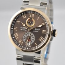 Ulysse Nardin Marine Chronometer Manufacture Steel 43mm Brown Roman numerals United States of America, Ohio, Mason