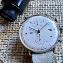 Junghans max bill Chronoscope używany 40mm Srebrny Chronograf Data Stal
