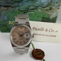 Rolex Datejust Oysterquartz Staal 36mm Zilver Geen cijfers