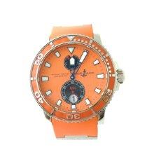 Ulysse Nardin Maxi Marine Diver gebraucht Orange Kautschuk