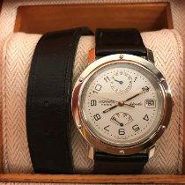 Hermès Clipper Steel 36mm White Arabic numerals