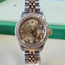 Rolex Steel Automatic Champagne No numerals 26mm pre-owned Lady-Datejust