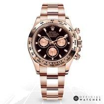 Rolex Oro rosa Automático Negro Sin cifras 40mm nuevo Daytona