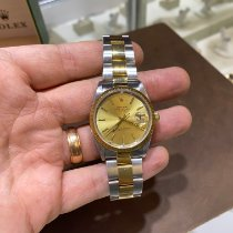 Rolex Oyster Perpetual Date Gold/Steel 34mm Yellow No numerals