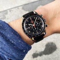 歐米茄 Speedmaster Professional Moonwatch 鋼 42mm 黑色 無數字