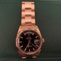Rolex Day-Date 36 Or rose 36mm Noir Arabes