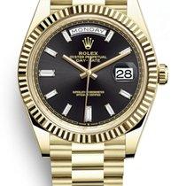 Rolex Day-Date 40 Or jaune 40mm Noir Sans chiffres France, Paris