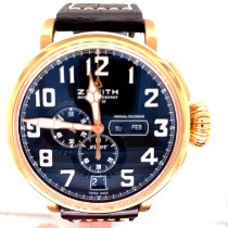 Zenith Ruzicasto zlato Automatika Crn Arapski brojevi 48mm nov Pilot Type 20 Annual Calendar