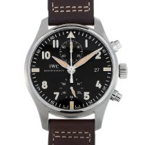 IWC Pilot Spitfire Chronograph Steel 43mm Black Arabic numerals United States of America, Pennsylvania, Southampton