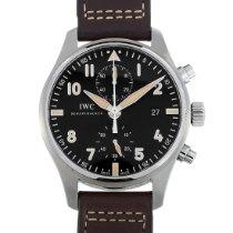 IWC Pilot Spitfire Chronograph Acél 43mm Fekete Arab