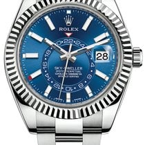 Rolex Sky-Dweller Steel 42mm Blue No numerals