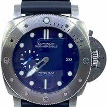 沛納海 Luminor Submersible 47mm 藍色 無數字