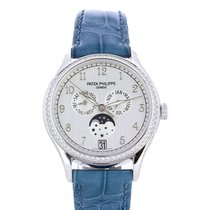 Patek Philippe White gold Automatic Silver 38mm new Annual Calendar