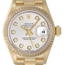 Rolex Lady-Datejust 26mm Silber Keine Ziffern