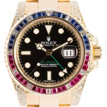 Rolex Yellow gold Automatic Black 40mm new GMT-Master II