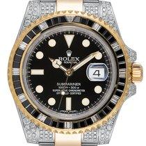 Rolex Submariner Date Жёлтое золото 40mm Чёрный
