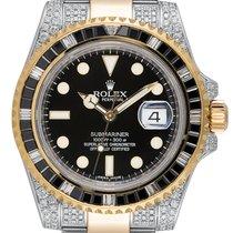 Rolex Submariner Date Oro amarillo 40mm Negro