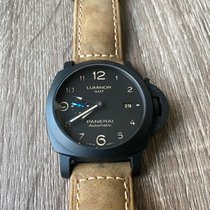 Panerai Ceramic Automatic Black Arabic numerals 44mm pre-owned Luminor 1950 3 Days GMT Automatic