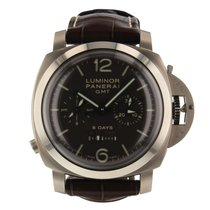 Panerai Luminor 1950 8 Days Chrono Monopulsante GMT Titanium 44mm Brown Arabic numerals United States of America, Florida, Miami