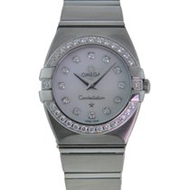 Omega Constellation Double Eagle pre-owned 25mm Mother of pearl Steel
