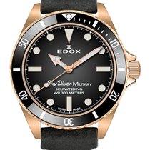 Edox Bronze Quartz Black 42mm new