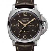 Panerai Luminor 1950 8 Days GMT Titanium 47mm Brown Arabic numerals United States of America, California, Marina Del Rey