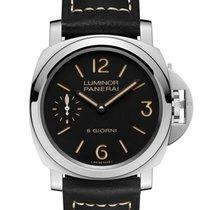 Panerai Luminor Base nieuw 2020 Handopwind Horloge met originele doos en originele papieren PAM00915