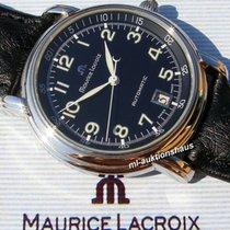 Maurice Lacroix Pontos Date Stahl 38mm Schwarz Arabisch