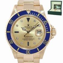 Rolex Submariner Date Oro amarillo 40mm Champán