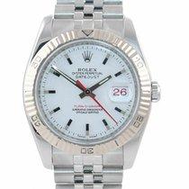 Rolex Datejust Turn-O-Graph Or/Acier 36mm Blanc