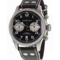 Hamilton Khaki Field Pioneer Steel 42mm Black Arabic numerals