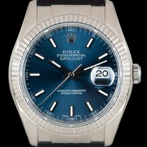 Rolex Datejust Or blanc 36mm Bleu