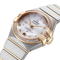 Omega Constellation Petite Seconde Gold/Steel 27mm White