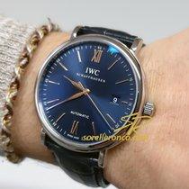 IWC Portofino Automatic IW356523 IWC Portofino Blu Automatico 40mm Cinturino Pelle Nera 2020 nuevo
