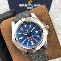 Breitling Avenger II GMT nuevo Automático Reloj con estuche y documentos originales A32390111C1W1