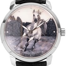 Ulysse Nardin Or blanc Remontage automatique 40mm occasion Classico
