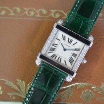Cartier Platinum Manual winding Silver Roman numerals 37mm new Tank (submodel)