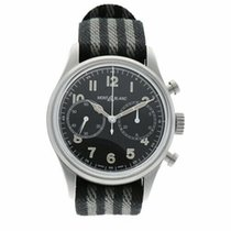 Montblanc Steel Automatic Black Arabic numerals 42mm pre-owned 1858