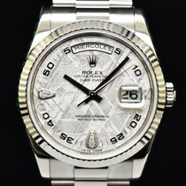Rolex Day-Date 36 Or blanc 36mm Gris Arabes