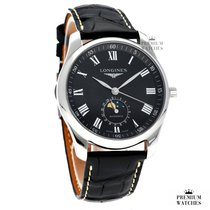 Longines Master Collection Zeljezo 40,00mm Crn Rimski brojevi