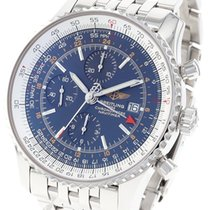 Breitling Navitimer GMT pre-owned 46mm Blue Chronograph Date GMT Steel