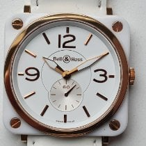 Bell & Ross BR S Oro rosa 39mm Blanco Arábigos