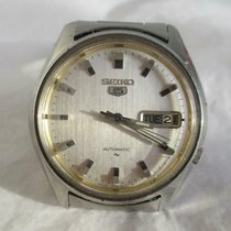 Seiko 5 Steel 36mm Mother of pearl No numerals