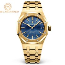 Audemars Piguet Yellow gold Automatic Blue No numerals 37mm pre-owned Royal Oak Selfwinding